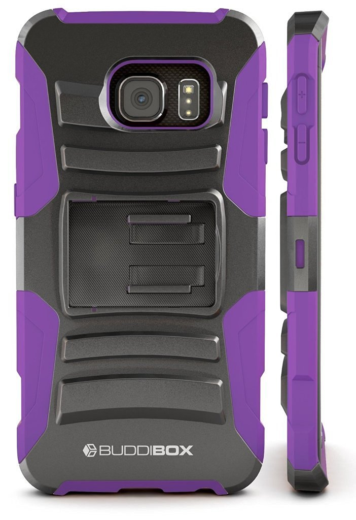 AICase Black//Orange Full Body Tough 4 in 1 Rugged Shockproof Cover with Belt Clip Armor Protective Cover for Samsung Galaxy S7 Heavy Duty 2016 Galaxy S7 Case