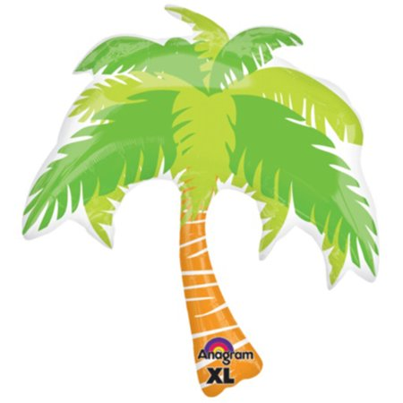 Palm Tree Out Of Balloons (Anagram Hawaiian Tropical Island Luau Palm Tree SuperShape 33