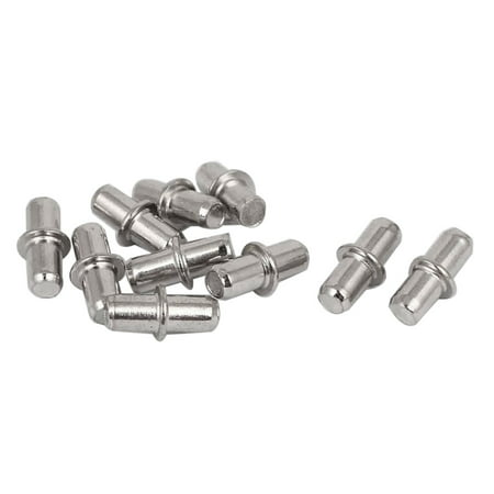 5mm Metal Furniture Cupboard Shelf Pins Pegs Supports Holder 10 Pcs