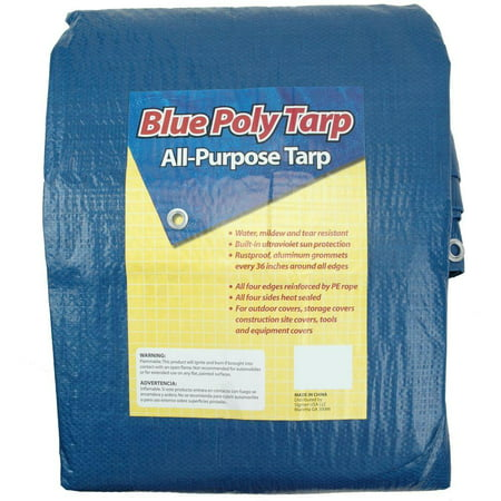 - Sigman 8 ft. x 10 ft. Blue Tarp
