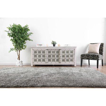 Furniture of America Martino Antique White Rosette Carved TV Stand ()