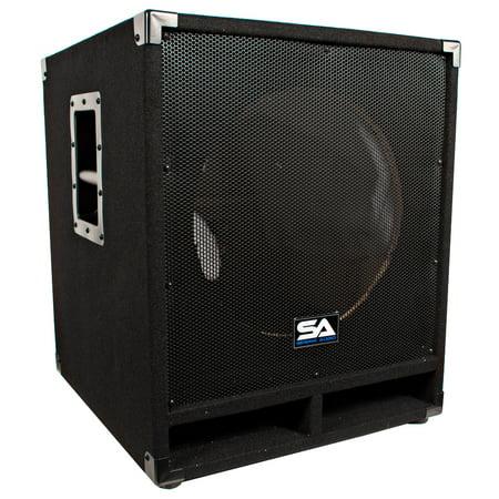 Seismic Audio  - Empty 15 Inch Pro Audio Subwoofer Cabinet - PA / Band / DJ / KJ -