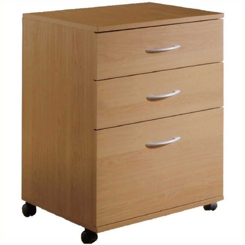 3 Drawers Vertical Wood Composite Filing Cabinet