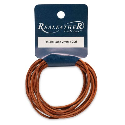 Realeather Round Leather Lace - Cedar, 2 mm x 2 yds