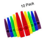 Blulu Plastic Kazoos Musical Instruments with Kazoo Flute Diaphragms for Gift...