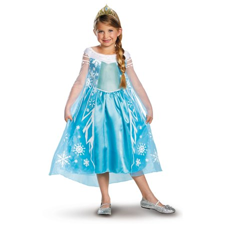 Frozen - Elsa Deluxe Costume (Anna Frozen Costumes For Adults)