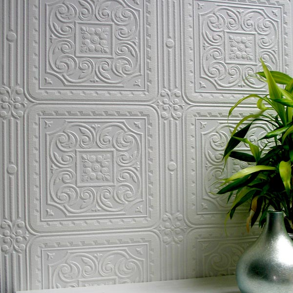 Brewster Turner Tile Paintable Textured Vinyl Wallpaper