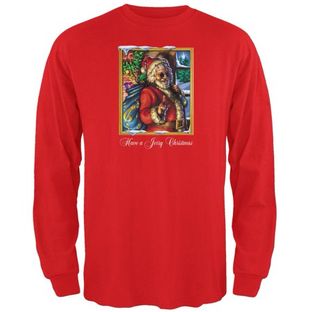 Jerry Garcia - Christmas Long Sleeve (Jerry Garcia Baby Clothes)