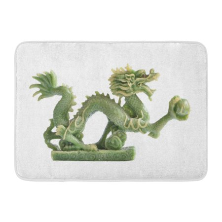 GODPOK Sculpture Green Jade Dragon White Stone Rug Doormat Bath Mat 23.6x15.7 -