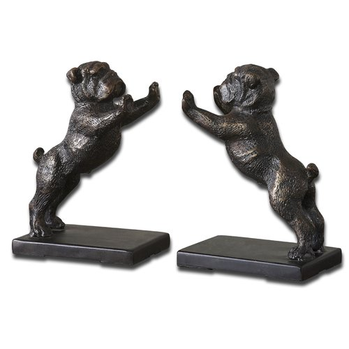Darby Home Co Bulldogs Cast Iron Book Ends (Set of 2)