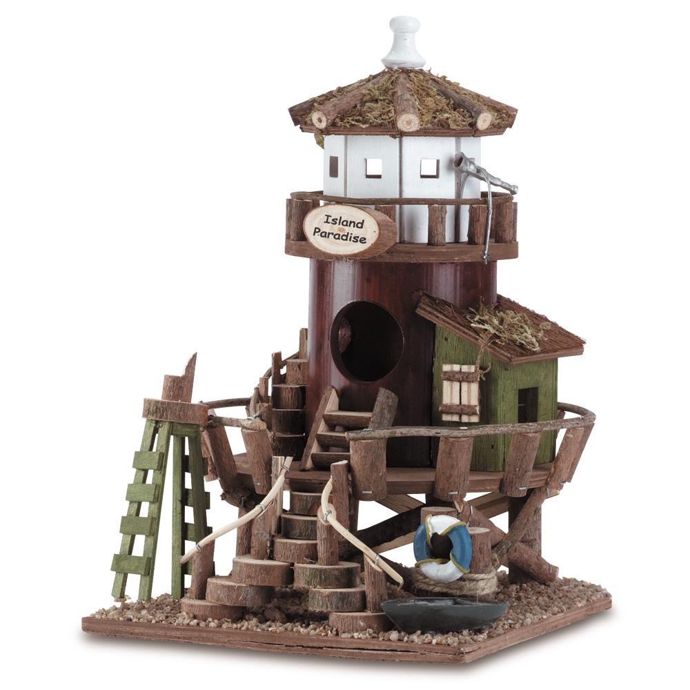 Wooden Birdhouse, Decorative Wooden Bird Houses - Paradise Nest For Birds