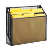Honey Can Do Steel Mesh Vertical File Sorter, Black