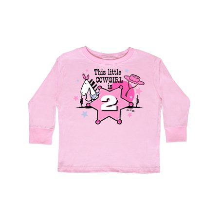 Little Cowgirl 2nd Birthday Toddler Long Sleeve T-Shirt (Little Cowgirl Clothes)