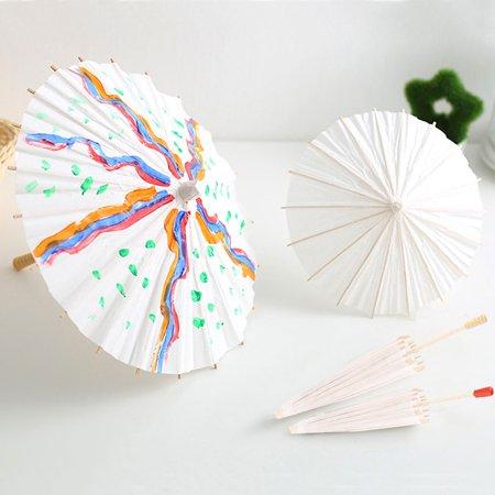 Yosoo White Color Paper Decorative Umbrella Parasol Wedding Bridal Party Decor Photo Cosplay Prop,Paper Umbrella, Paper Umbrella Parasol