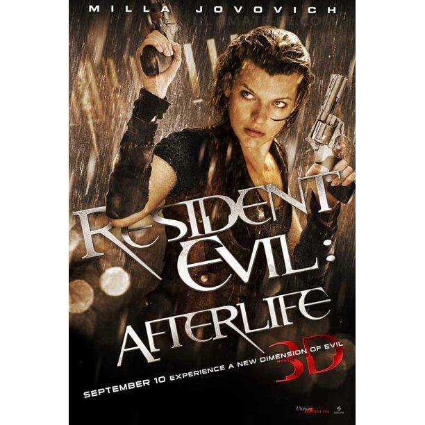 Resident Evil Afterlife 2010 27x40 Movie Poster Walmart Com Walmart Com