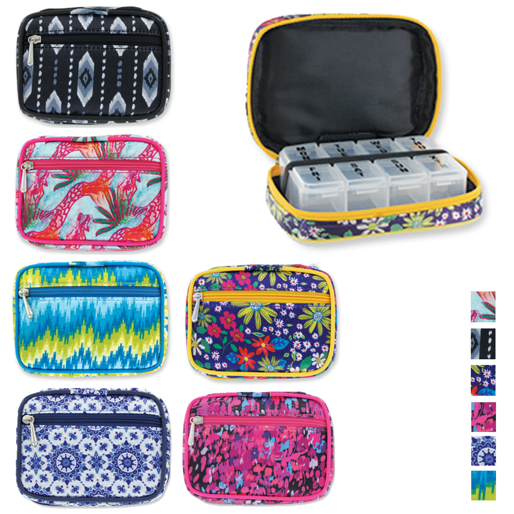 1 Portable Fashion Pill Box Case Smart Vitamin Weekly Medicine Travel Holder New