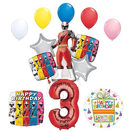 The Ultimate Power Rangers Ninja Steel 3rd Birthday Party - Power Rangers Birthday Supplies