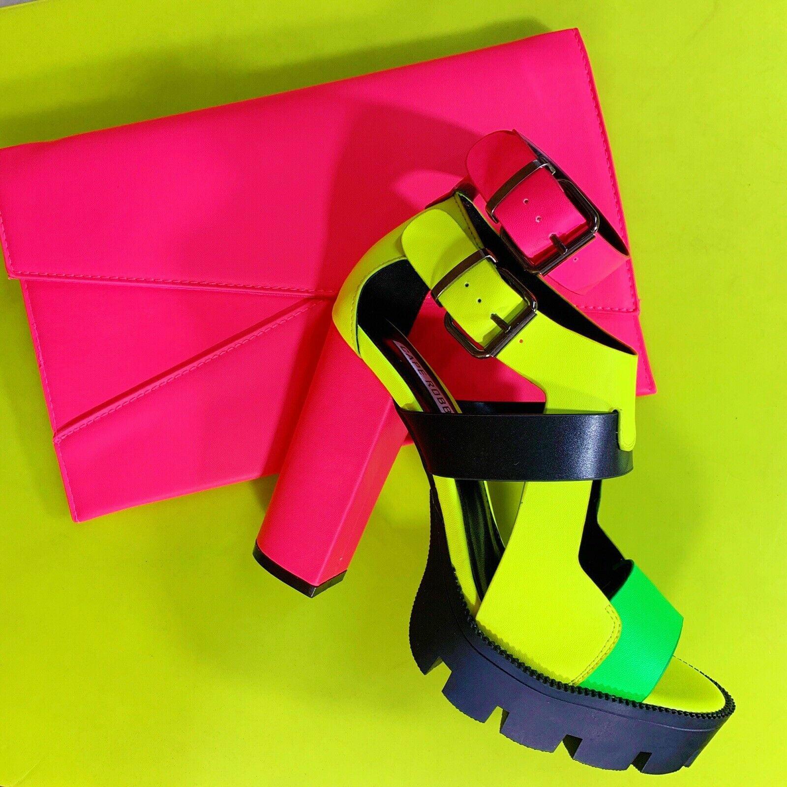 Cape Robbin Shoes Titan Neon Platform