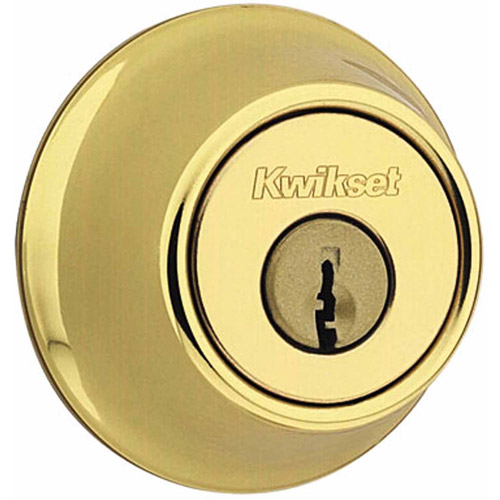 Kwikset 96600-419 Polished Brass Single Cylinder Deadbolt