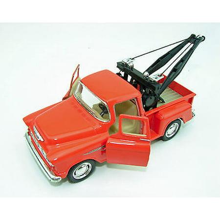 New Kinsmart 1955 Chevy 3100 Stepside Tow Truck Diecast Model Toy 1:32 Orange