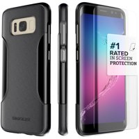SaharaCase Galaxy S8 Case, Classic Protection Kit with ZeroDamage Tempered Glass - Black