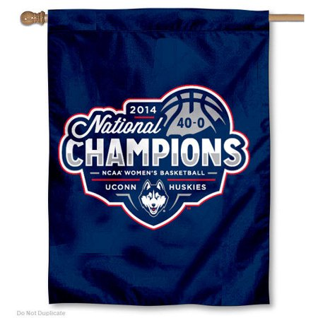 "connecticut huskies 30"" x 40"" two sided house flag"