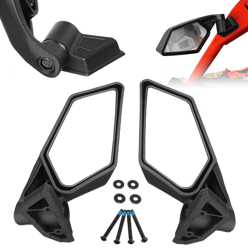 2pcs UTV Off-road Racing Side Mirror For Can-Am Maverick X3 Off-road 2017-2018