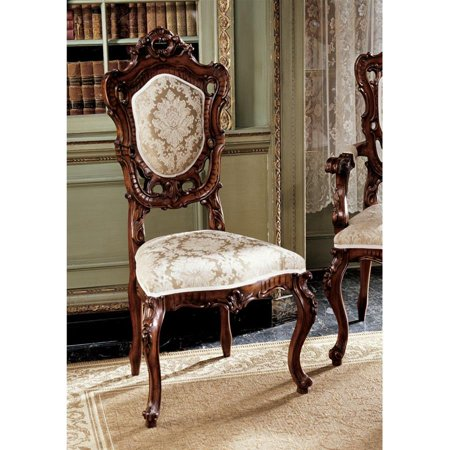 Design Toscano Toulon French Rococo Side Chair (French Provincial Dining Table And Chairs For Sale)