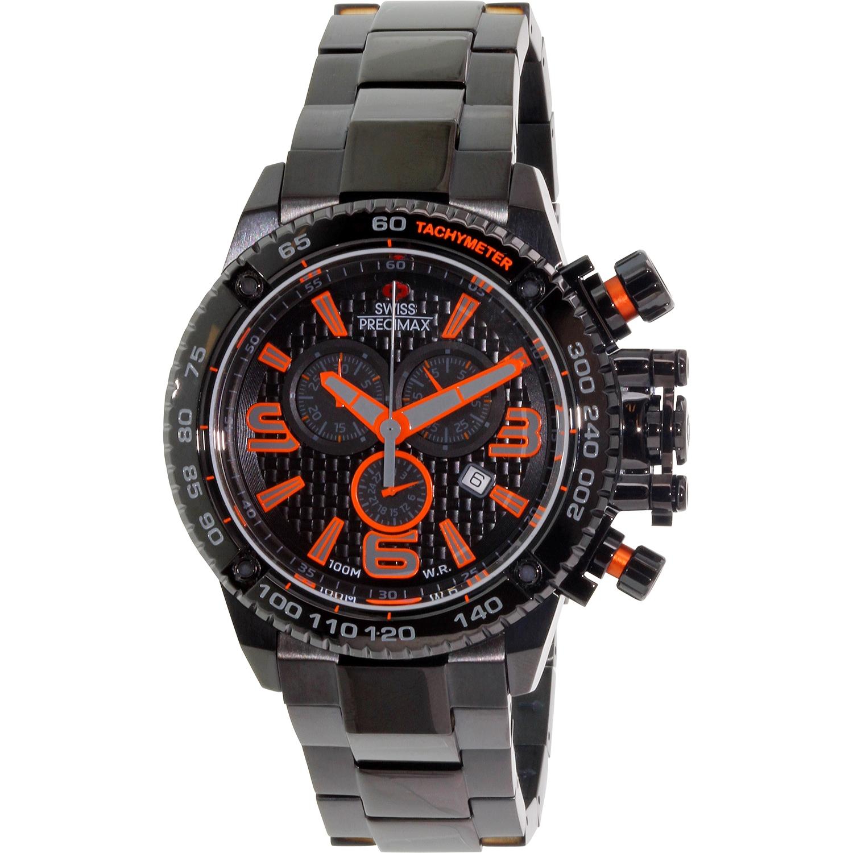 Swiss Precimax Men's Forge Pro SP13241 Black Stainless-Steel Swiss Chronograph Sport Watch by Swiss Precimax