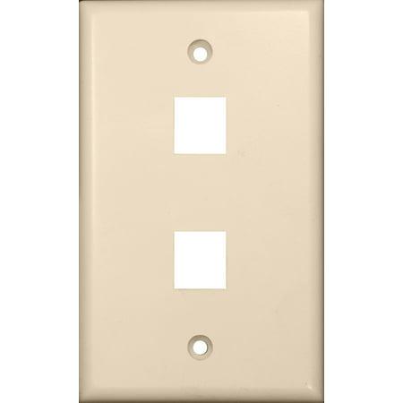Keystone Jack Almond (Morris 88184 DataComm Wall Plate for Keystone Jacks and Modular Inserts, 2 Ports, Almond)