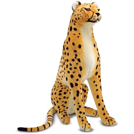 Melissa & Doug Giant Cheetah, Lifelike Stuffed Animal, over 4' long