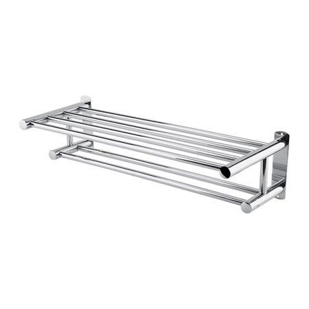 Walfront Stainless Steel Double Towel Bar Bathroom Wall Shelves ...