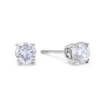 1/2ct Diamond Stud Earrings set in 14K White Gold