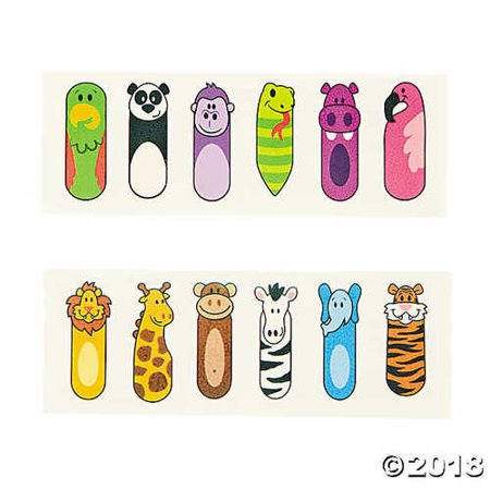 Zoo Animal Finger Puppet Tattoos - Cute Finger Tattoos
