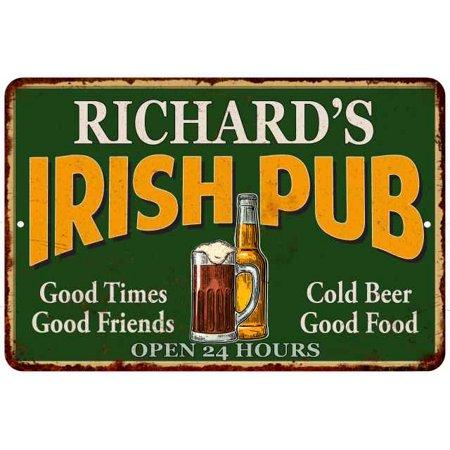 RICHARD'S Irish Pub Personalized Beer Metal Sign Bar Decor 8x12 208120013010