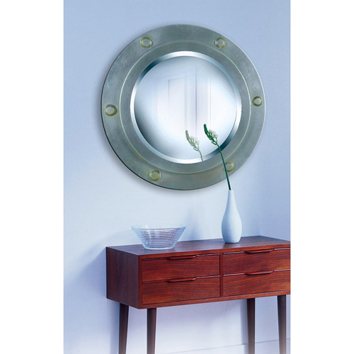 Kenroy Home Portside Wall Mirror, Weathered Steel