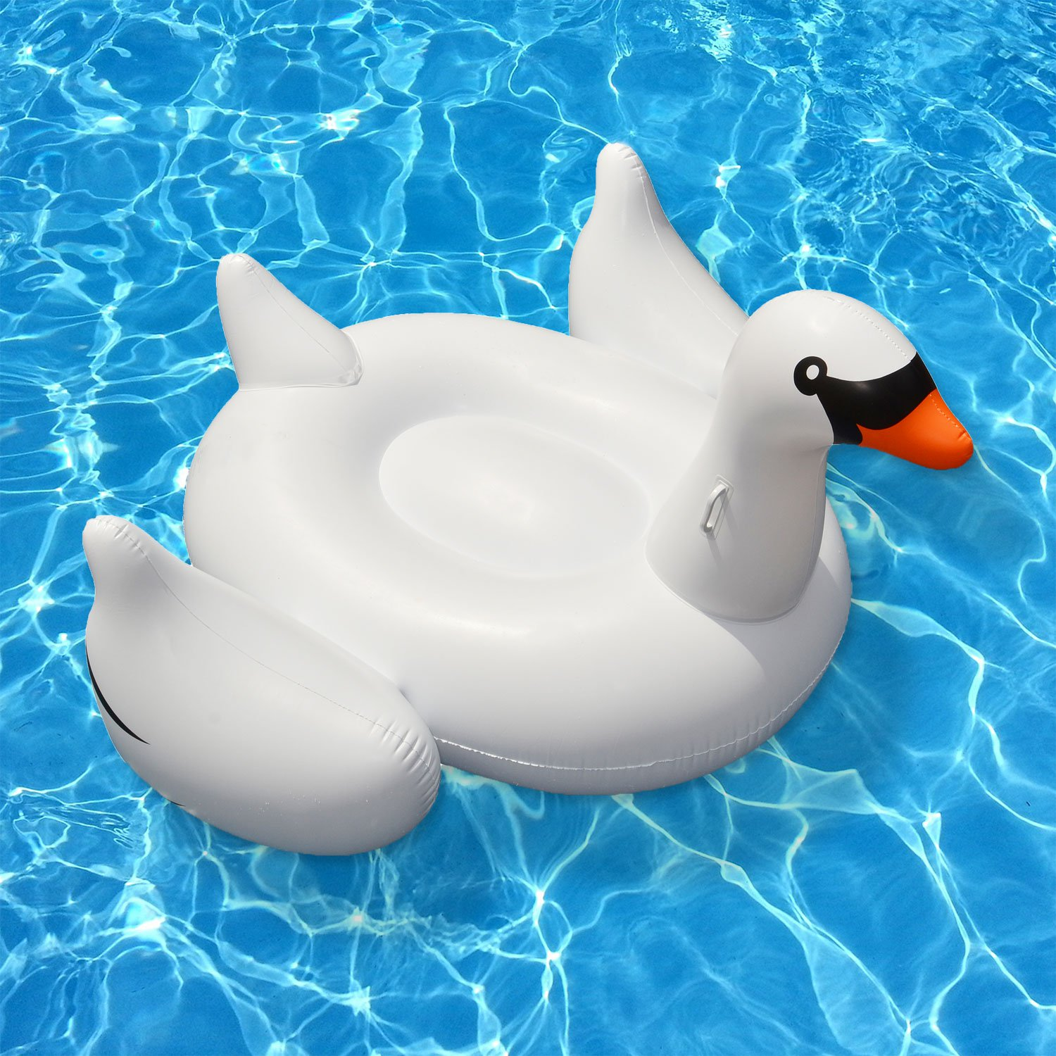 Swimline Giant Inflatable Ride-On 75-Inch Swan Float For Swimming ...