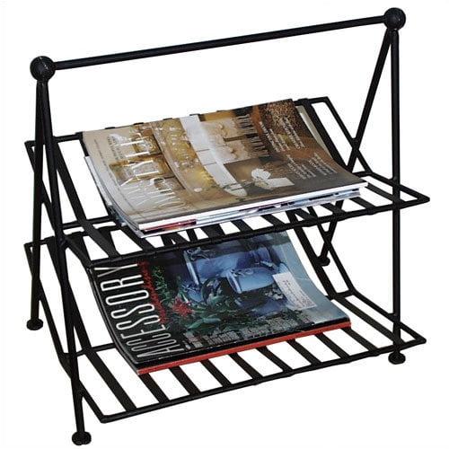 Pangaea Home and Garden Black Iron Magazine Rack