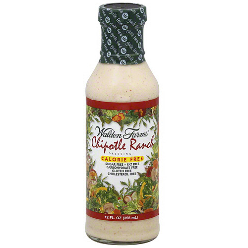 Walden Farms Chipotle Ranch Dressing, 12 oz (Pack of 6)