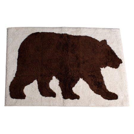 Saay Knight Ltd Natures Trail Bear Bath Rug