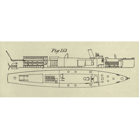 Royal Fig (LAMINATED POSTER Fig. 153 of Plate 47 (Thornicroft's Torpedo Boats), showing the Royal Navy Lightning as built, witho Poster Print 24 x 36)