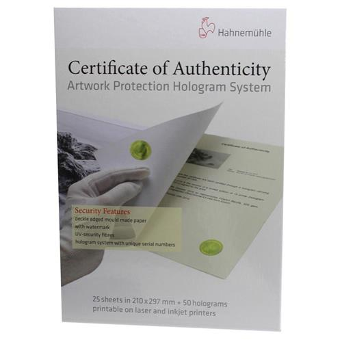 photo relating to Printable Holograms called Hahnemuhle Certification of Authenticity Hologram Process, 25