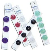 "Slimline Buttons Series 1-White 2-Hole 1/2"" 5/Pkg"