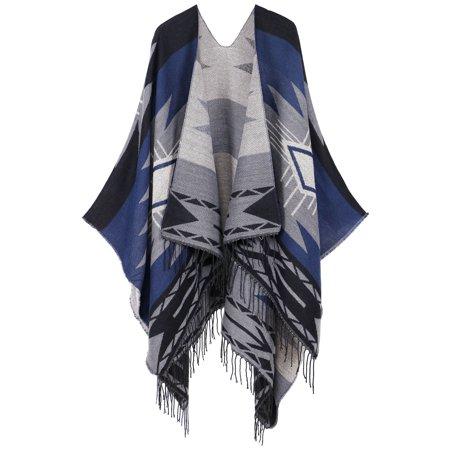 Wool Boyfriend Cardigan (Vintage Soft Merino Wool Kimono Wrap Cardigan w/ Tassels,Black)