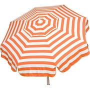DestinationGear Italian 6' Umbrella Acrylic Stripes Orange and White Bar Height Pole