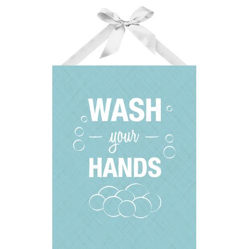 PTM Images Wash Your Hands Textual Art on Plaque