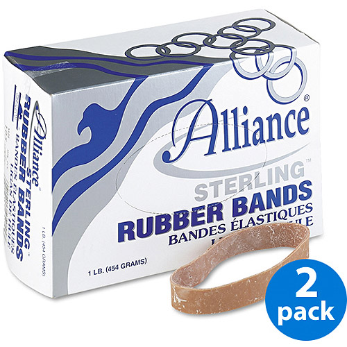 Alliance Sterling Ergonomically Correct Rubber Bands, #105, 5 x 5/8, 70/Box, 2 Boxes
