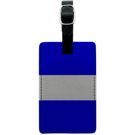 Thin White Line EMS EMT Leather Luggage ID Tag Suitcase