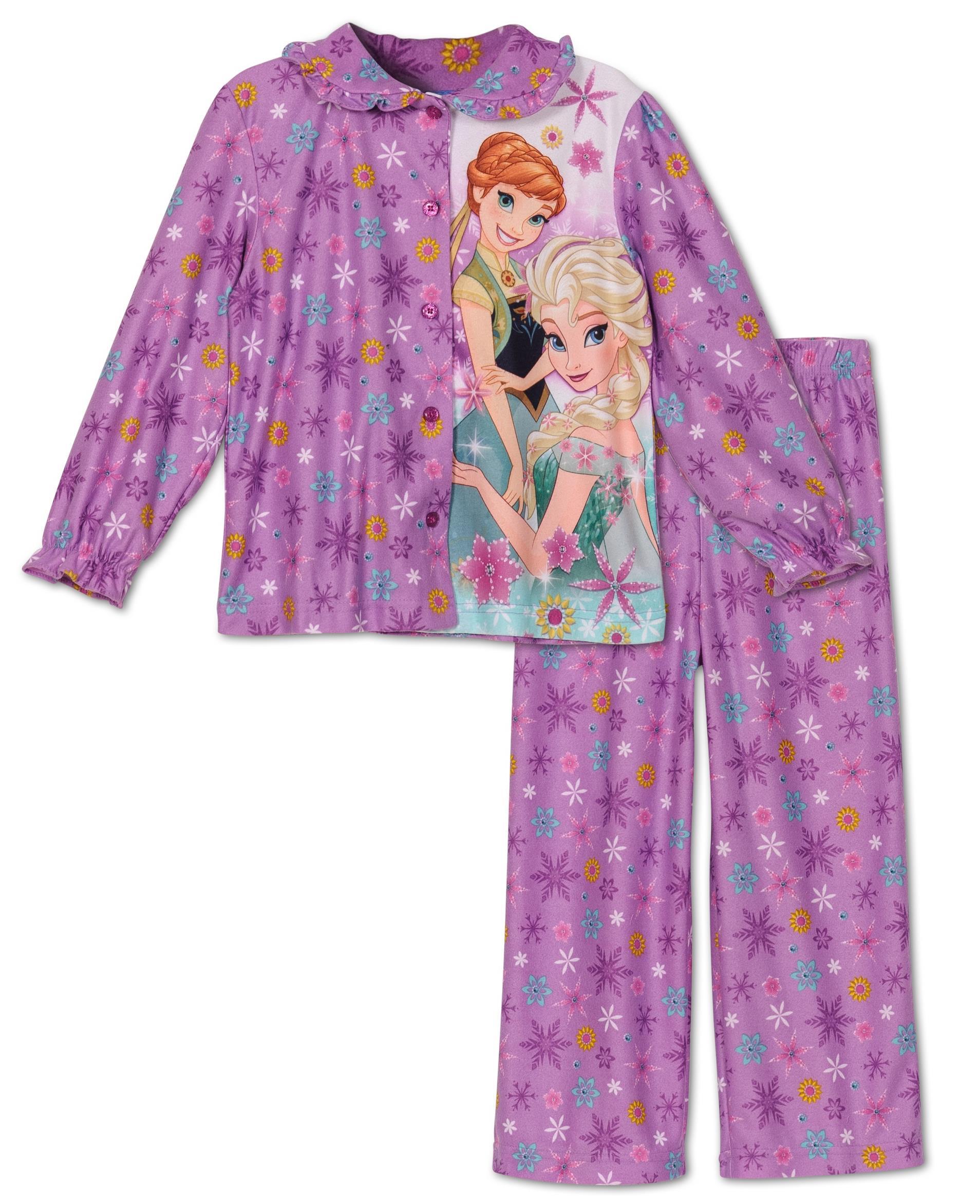 Disney Frozen Toddler Girls Micro Fleece 2 Piece Pajama Set, Sizes 2T-5T