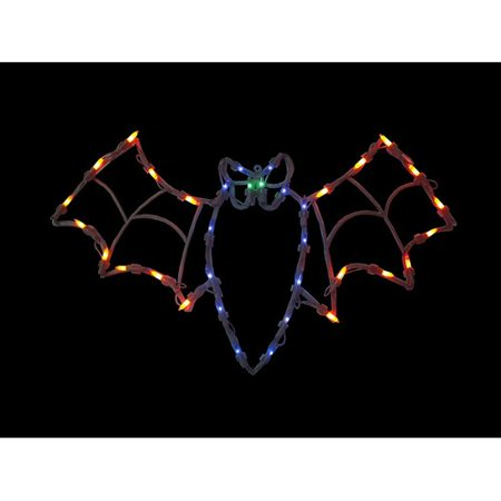 The Holiday Aisle 15'' Bat Halloween Window Silhouette Decoration Lighted Display